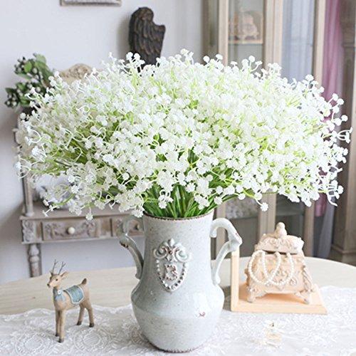 6pcs Artificial Gypsophila Flowers, gloednApple Silk Babybreath Flower Bouquet Plant Garland Party Wedding Home Decor