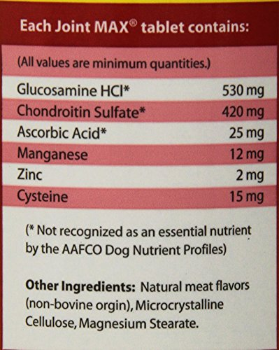 Picture of Joint MAX Double Strength - Vitamins, Minerals, Antioxidants - Maximum Joint Health Supplement for Dogs - 120 Chewable Tablets