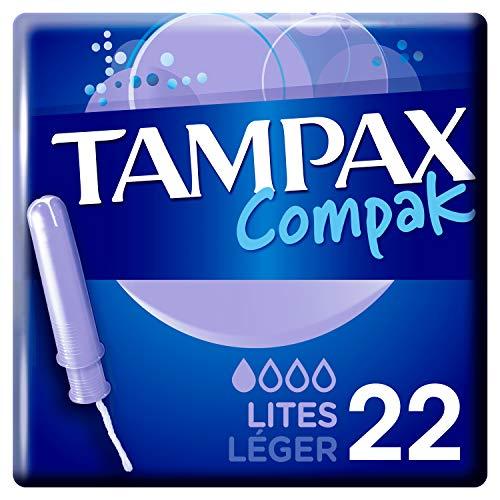 Tampax Compak Light Tampons mit Applikator aus Kunststoff, 22 Stück