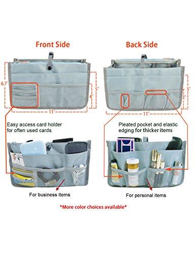Dahlia Patented STURDY Handbag Purse Organizer Insert - 21 Components Black by Dahlia (Image #6)