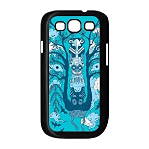 Samsung Galaxy S3 9300 Phone Case Cover Black Psychedelic plants and totem wolf EUA15996491 Clear Phone Case