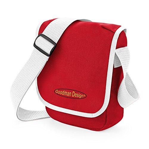 Kleine Kameratasche, Reisetasche, Kindertasche in rot - mit Goodman Design Logo, für Reisen, Schule, oder Freizeit