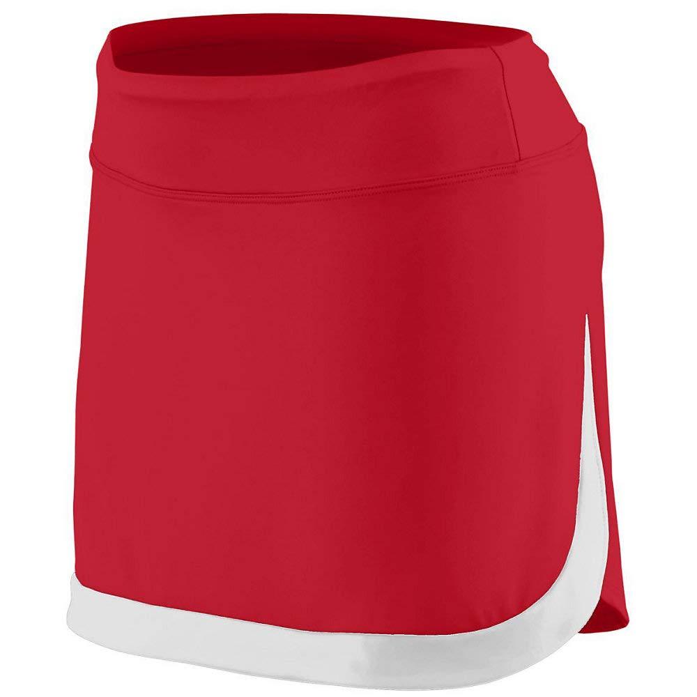 Augusta Sports Girls Small Red/White Skort by Augusta Sports