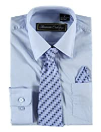 American Exchange Big Boys' Dress Shirt Set
