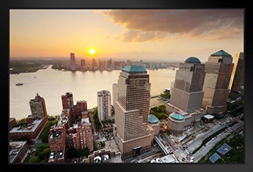 (Brookfield Place World Financial Center Battery Park New York City Photo Art Print Framed Poster 20x14 inch)