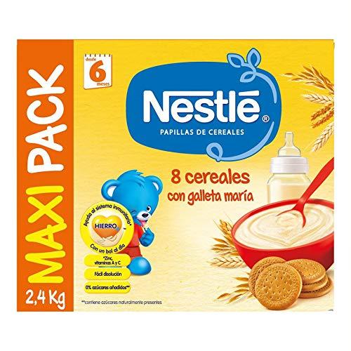 Nestlé Papilla 8 cereales con galleta María - Alimento Para ...