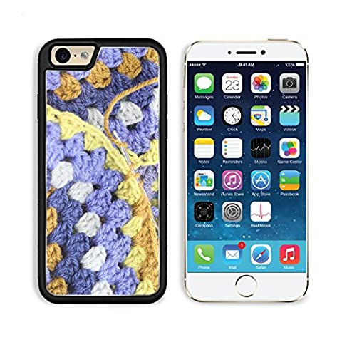 MSD Premium Apple iPhone 6 iPhone 6S Aluminum Backplate Bumper Snap Case iPhone6 IMAGE ID: 32461766 Crocheting crochet hook making an afghan blanket in shades of blues and browns a vintage - Crochet Shell Afghan