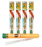 Cyclones Clear King Size'Tiki Tango' Pre Rolled Cones (4 Packs) with Rolling Paper Depot XL Kewl Tube