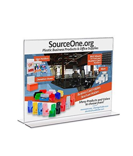 UPC 736983778680, SourceOne Upright Landscape Large 17 x 11 Sign Holder Ad Frame