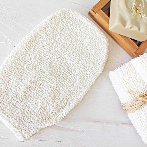 Bambus Waschhandschuh   Maße: ca. 11 x 23 cm, Peelinghandschuh, Bambus Waschlappen