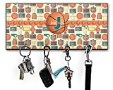 RNK Shops Basketball Key Hanger w/ 4 Hooks (Personalized)
