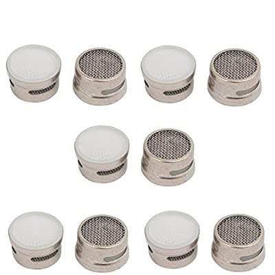 uxcell Brass Faucet Aerator Insert Laminar Spare Parts White 10pcs