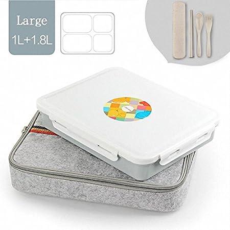 worthbuy 304 Acero inoxidable japonés almuerzo Boxs contenedores ...