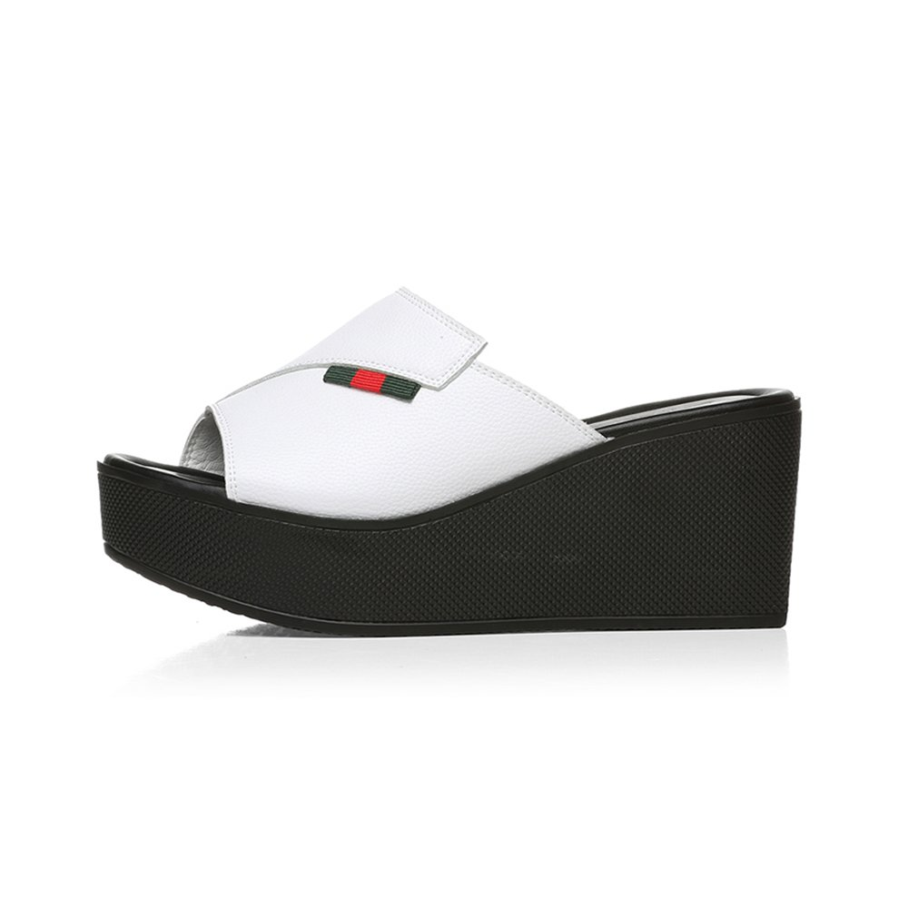 LHA Sandalen 2018 2018 2018 Sommer Neue Wort Worte Mode Oberbekleidung Wind Dicke Kruste Muffins Frauen Sandalen Und Hausschuhe Sandalen Schuhe Schuhe (Farbe   Weiß, größe   EU34 UK2-2.5 CN33)  bf2f87