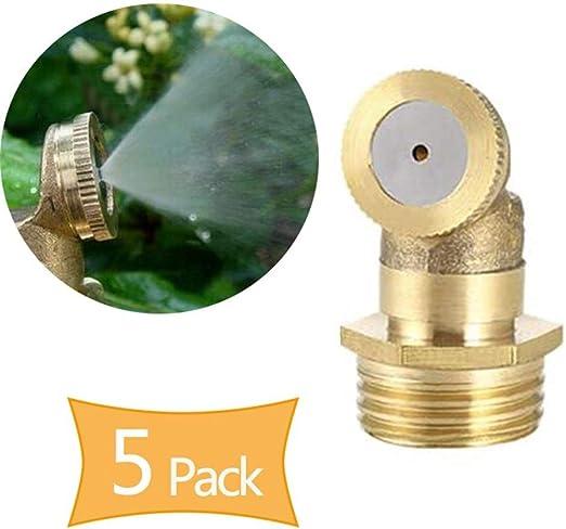 4 Holes Brass Low Pressure Water Fog Mist Nozzle Misting Spray Sprinklers
