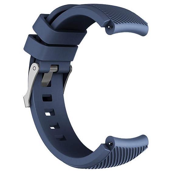 DIPOLA Reemplazo de Correa de muñeca de Reloj de Silicona para Huawei Watch GT Smart Watch 22mm_Azul Oscuro
