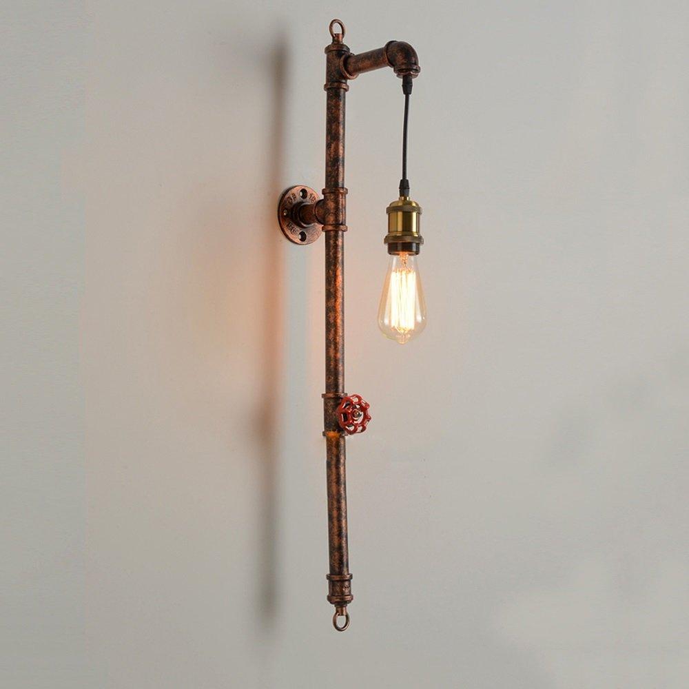 工業用水パイプ長壁ランプロフト壁Sconcesカフェバー回廊階段キッチンノスタルジック壁照明器具23 * 80センチメートル(球根を除く) B07S1MDMP7