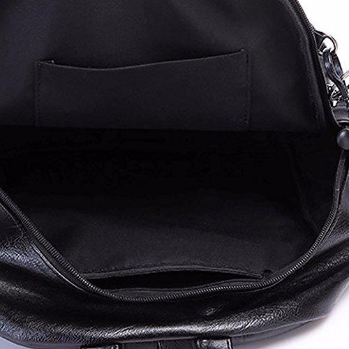 porté dos Sac Noir Jin au Ya pour à femme main 4wI6Anqa