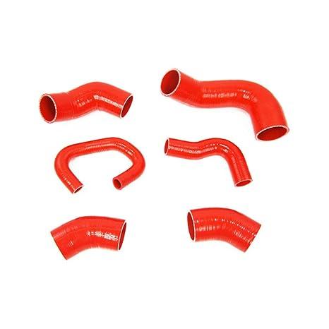 ALLOYWORKS silicona Kit de manguera de Turbo intercooler para Lancer EVO7 8 9 CT9A 4G63 Red