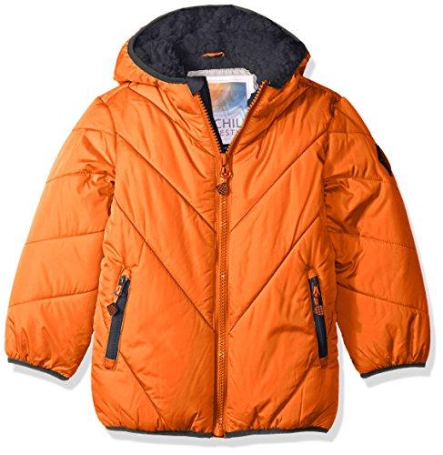 Chill Bubble Orange Solid Big Jacket Boys' Bn4Cwd