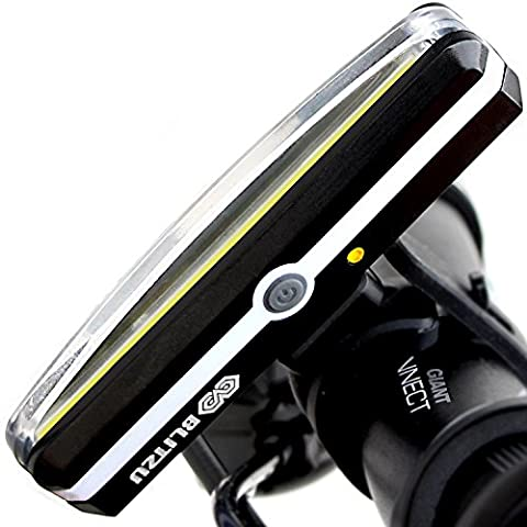 BLITZU Cyborg 168H USB Rechargeable Headlight SUPER BRIGHT Bike Light - Helmet Front Light Accessories. High Intensity LED Fits on any Bicycles. Easy To install for Cycling Safety - Folding Bike Helmet