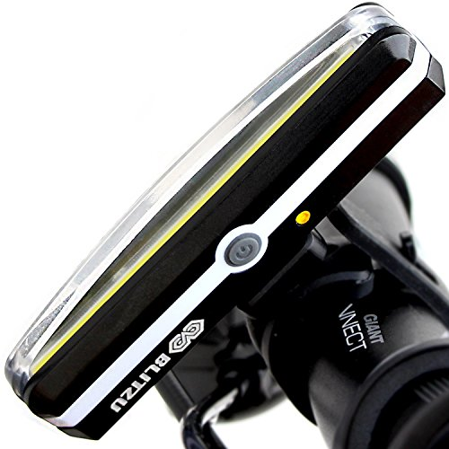 (BLITZU Cyborg 168H USB Rechargeable Headlight Super Bright Bike Light - Helmet Front Light Accessories. High Intensity LED Fits on Any Bicycles. Easy to Install for Cycling Safety Flashlight)