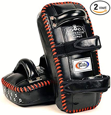 FAIRTEX KICK CURVED PADS BLACK KPLS2  KICKBOXING SUPERIOR TRAINING MUAY THAI MMA