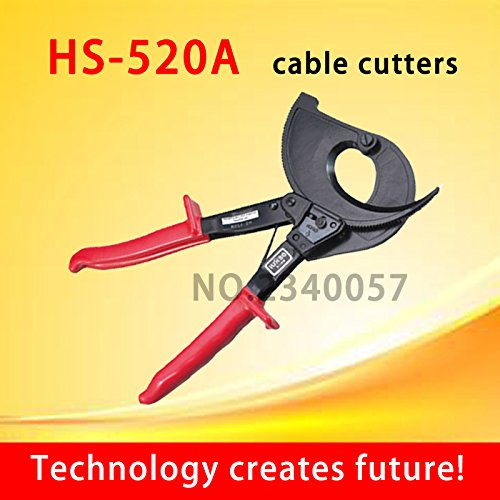 HS-520A Ratchet cable cutter ,Cutting range:400mm2 max , Not for cutting steel or steel wire