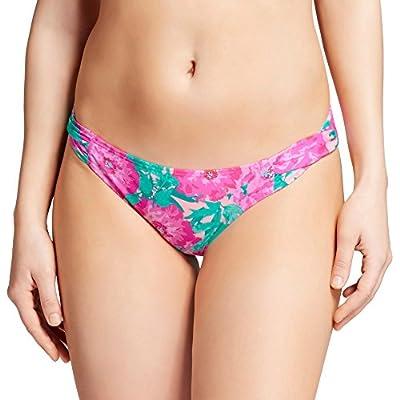 Discount Xhilaration Women's Tab Side Cheeky Bikini Bottom for cheap