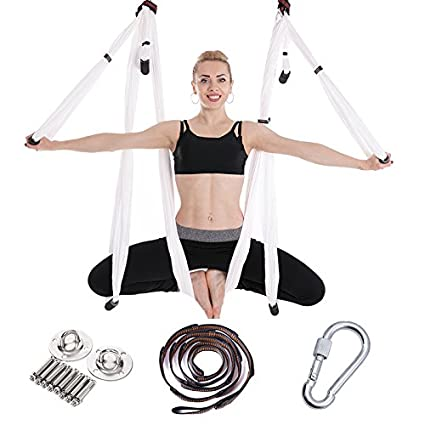 Amazon.com: Aerial Yoga Swing Set - Yoga Hammock/Trapeze ...