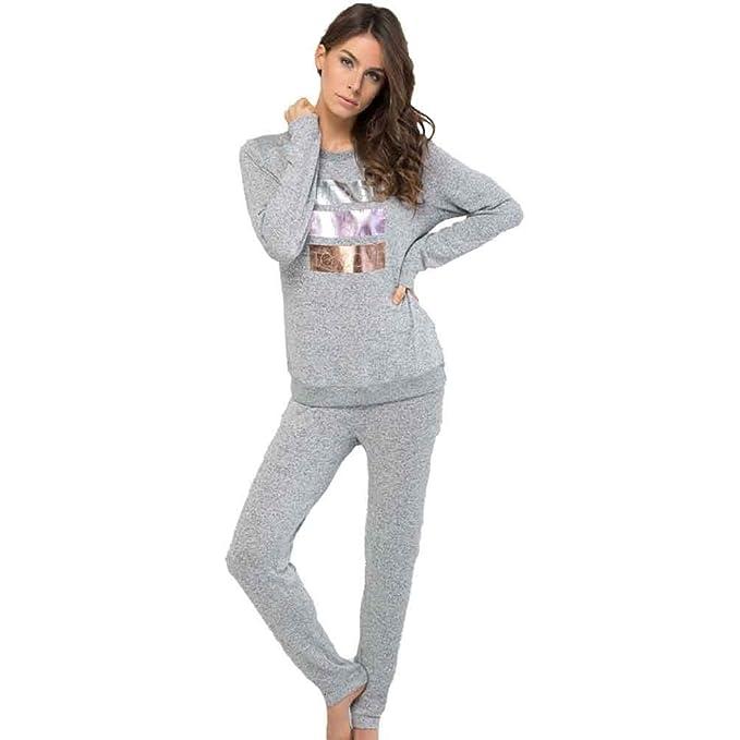 MASSANA Pijama de Mujer en Viscosa P681252 - Gris Vigore, M