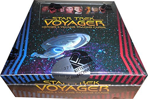 - Star Trek Voyager Heroes & Villains Factory Sealed Trading Card Box with 24 Packs