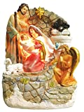 9.3 Inch Holy Family with Light and Water Fountain