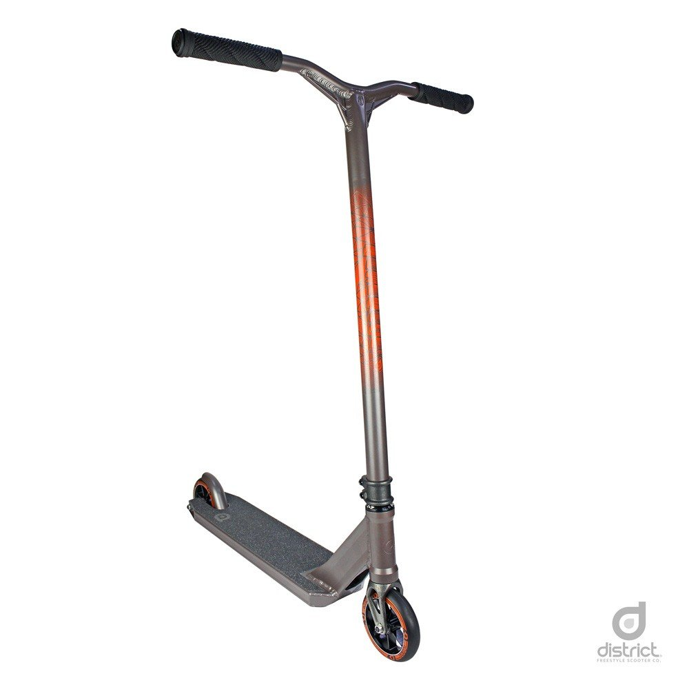 District HTS Pro Scooter - Stunt Scooter - Trick Scooter - Best Expert Level Pro Scooter Kids/Teens/Pros Ages 10 Heights 5.0ft-6.5ft+ (Titanium Gray) District Scooters