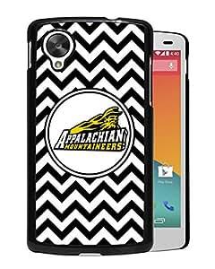 NCAA Appalachian State Mountaineers 4 Black Customize Google Nexus 5 Phone Cover Case
