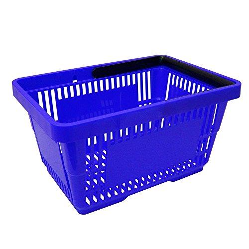 1 Einkaufskorb aus Kunststoff Plastik mit Henkel 20 Liter 40cm stapelbar blau
