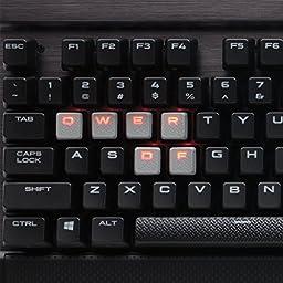 Corsair Gaming K70 RAPIDFIRE Mechanical Keyboard, Backlit Red LED, Cherry MX Speed