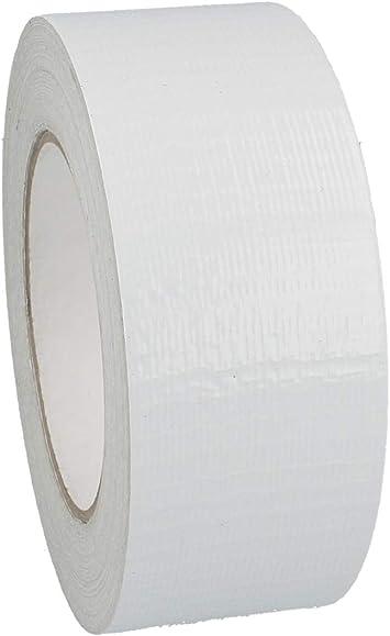 19 mm x 50 m, Wei/ß Breite w/ählbar Handrei/ßbar Gewebeklebeband stark klebend Gewebeband aus PE Wei/ß 50 m Panzertape // Schwarz oder Silber