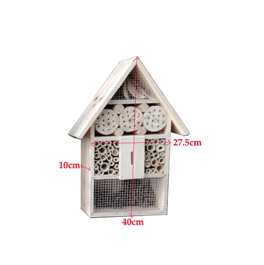 MTGYF Legno Massiccio Insetto casa casa casa in Legno Bee House Ambientale Insetto casa Insetto casa Bambini Insetti comprensione, Decorazione del Giardino, Stile Rustico di Abete Fatto a Mano 132109