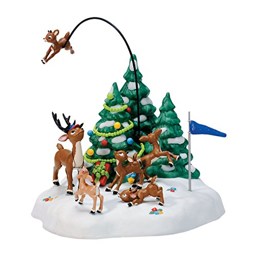 Department 56: Reindeer Games RETIRED (North Reindeer Pole 56)