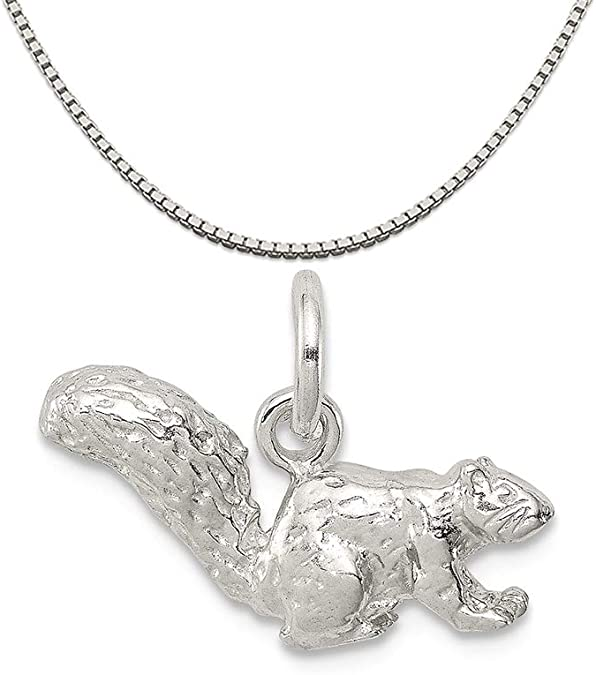 Mireval Sterling Silver Lizard Charm on a Sterling Silver Chain Necklace 16-20