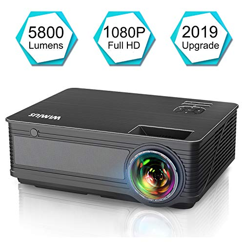 Projector, WiMiUS P18 Upgraded 5800 Lumens LED Movie Projector 1080P Full HD Support 200
