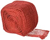 Kel-Toy Jute Burlap Ribbon Roll, 4-Inch by 10-Yard, Red