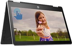 "HP Pavilion x360 Premium 2 in 1 Laptop Computer, Intel Quad-Core Pentium Silver N5000Processor, 11.6"" HD IPS Touchscreen Display, 4GB DDR4 128GB SSD, HD Camera B&O USB-C HDMI WiFi BT 4.2 Win 10"
