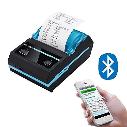 Mini Thermal Bluetooth Receipt Wireless Printers, Portable Personal Bill Wireless Bluetooth Receipt Printers (2inch Receipt Printer)