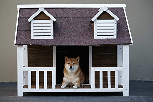 extra large dog house with porch - 6