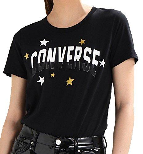 Converse Classic Fit T-Shirt Donna Nera 10005788A01  Amazon.it  Sport e  tempo libero 9cbf1bc70a8