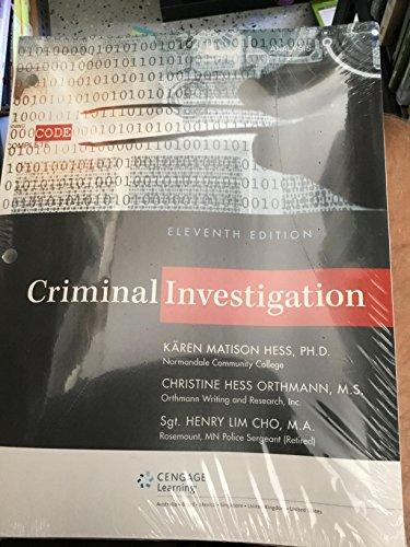 Criminal Investigation, Loose-leaf Version
