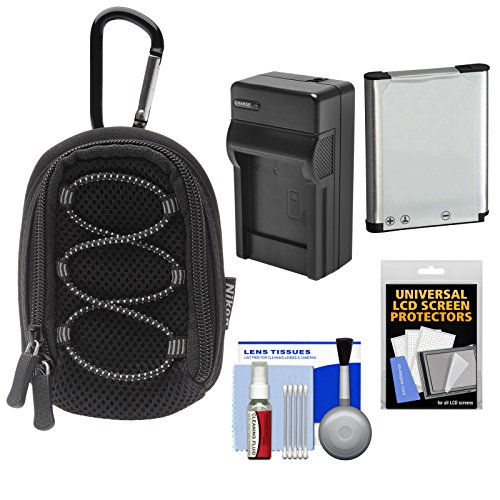 nikon-coolpix-all-weather-sport-digital-camera-case-with-en-el19-battery-charger-kit-for-s32-s100-s3