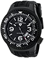 Swiss Legend Men's 11819A-BB-01 Neptune Automatic Black Dial Black Silicone Watch from Swiss Legend